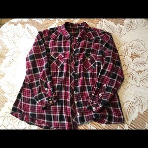 Torrid Plaid Cotton Button-Up